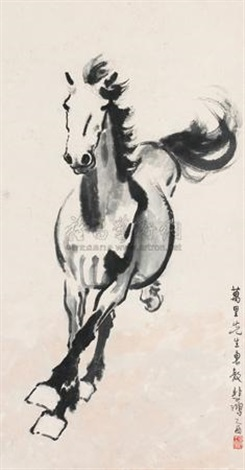 奔腾万里 galloping horse by xu beihong