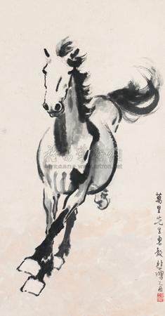 奔腾万里 galloping horse by xu beihong