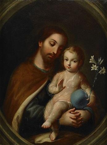 josef och jesusbarnet by miguel cabrera
