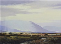 summer evening nr l. curreal, connemara by denis j. mcdowell