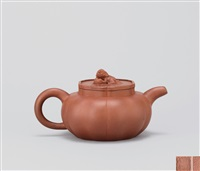 狮球壶 (teapot with a lion-shaped knob) by jiang anqing