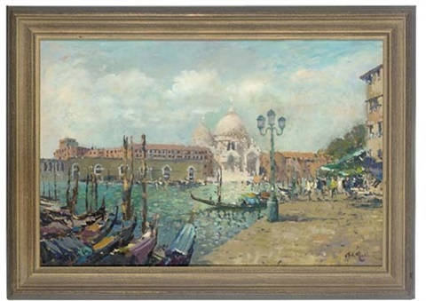 santa maria della salute from accross the grand canal venice by john ambrose