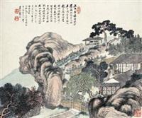 菊隐图 by dai yiheng