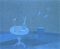 stilleben in blau by andrea d' aterno
