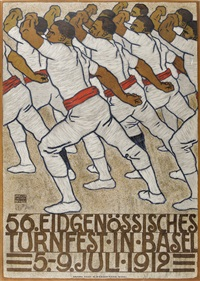56. eidgenössisches turnfest in basel 1912 by eduard renggli the younger