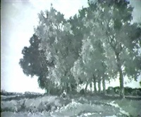 landschaft mit baumgruppe by joseph emmanuel van driesten