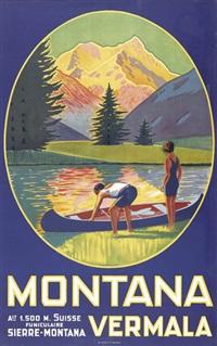 montana vermala (poster) by maurice freundler