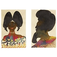 untitled (afro heads) (in 2 parts) by chris ofili
