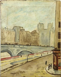 paris with notre dame in the distance by albert marquet