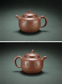 teapot by jiang jianxiang and lv yaochen