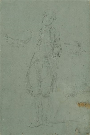portrait of a standing gentleman m de bornis by louis tocqué