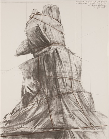 wrapped monument to vittorio emanuele by christo and jeanne claude