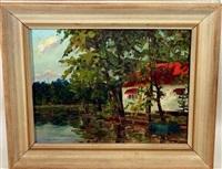 biggers house, sunset lake rancocas creek, mt holly, nj by hugh h. campbell
