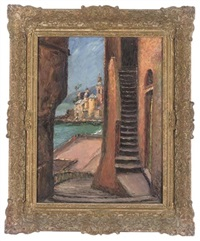 view towards santa maria assunta, camogli (+ 7 others, smllr; 8 works) by piero sansalvadore