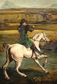 detail of the grosvenor hunt by george stubbs