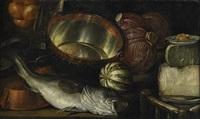 stilleben med fisk och grönsaker by cornelis jacobsz. delff