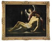 kristus kropp nedlägges av en ängel by paolo piazza