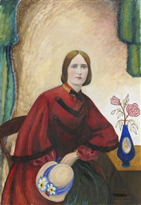 porträtt av fru mimmi sundbeck by gabriele münter