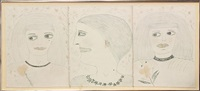 untitled (three heads) by lee godie