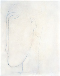 tete de profil by amedeo modigliani