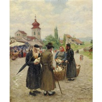 market in the jewish quarter, frankfurt by max spielhaczek