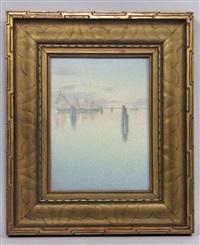 venetian harbor scene with ships by carl schmidt
