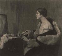 la poudreuse (gwynneth matheson grier) by edmund wyly (sir) grier