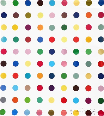 opium lambda on gloss color fuji archive by damien hirst