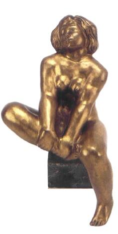 sittande modell by thorwald alef