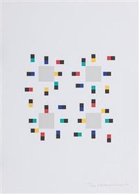 vier variationen um ein quadrat (4 works) by verena loewensberg