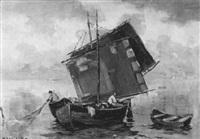 fischerboote in der bucht von venedig by wilhelm link
