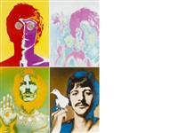 beatles (set of 4) by richard avedon