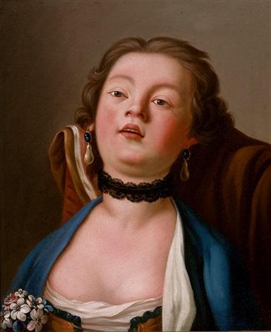 portrait einer hübschen jungen russin by pietro antonio rotari