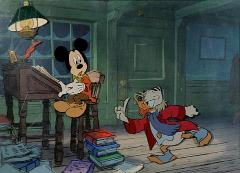 Mickey Mouse As Bob Crachit And Donald Duck As Ebenezer Scrooge From