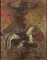 figure holding a rooster by romeo v. tabuena
