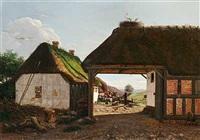 indkjorsel til en jydsk bonde-gaard by hans christian fischer