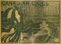canadian cycles, massey harris (poster) by e. celos