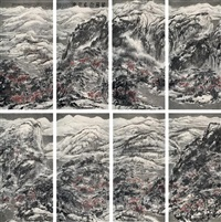 landscapes (8 works) by cui ruzhuo