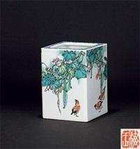 四方花鸟图 by dai yumei