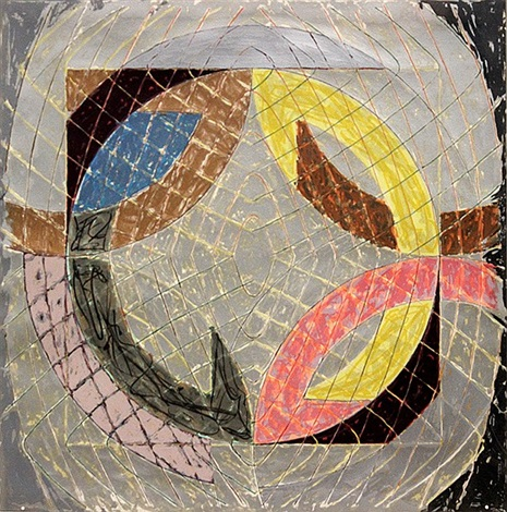 polar co ordinates viii by frank stella