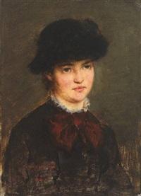 portrait einer reizenden jungen frau by arthur langhammer