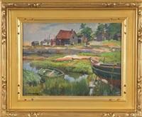 new england fishing village by joseph newman