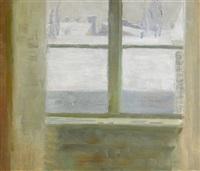 fönster mot vinterutsikt by richard (sven r.) bergh