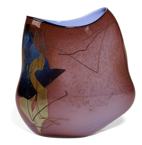 purple shard vase 23 by william morris