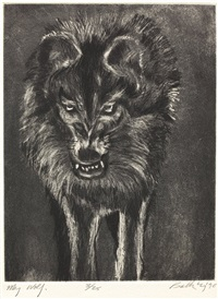 wolf suite (portfolio w/8 works) by john n. battenberg