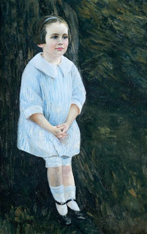 portrait of a little girl by edmund charles tarbell