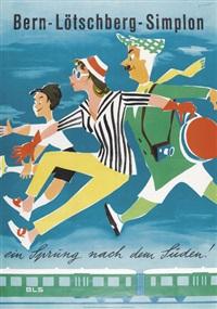 bern-lötschberg-simplon (poster) by paul gusset