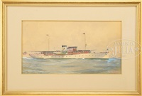 portrait of the steam yacht merdonia by arthur t. merrick