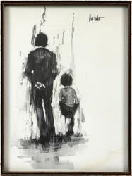 man walking with child by aldo luongo