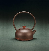 teapot with overhead handle by xu xiutang